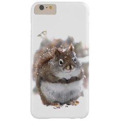 Red Squirrel in Snow iPhone 6 Plus Case