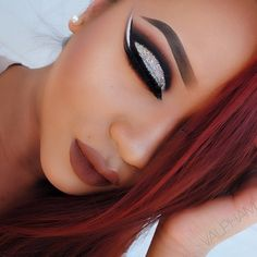 @valpham uses our Matte Liquid Liner for this amazing cut crease, double wing look.