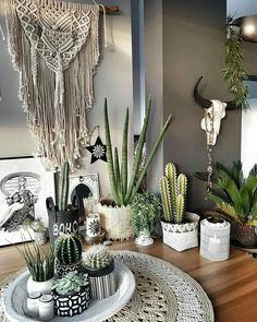 How cute is this #plantcorner !!!  I Love cactus's 🌵 just screams for an Instagram pic.   Follow my bohemian home board for more of this kind of inspiration  M.aggy__ on Instagram.