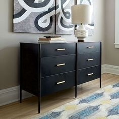 This is so sleek, was $1200, now $800 an I think free shipping.  Such a cool piece! Metalwork 6-Drawer Dresser - Hot-Rolled Steel Finish #westelm