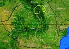 Administrative map of Romania with Suceava county highlighted Romania Map, Danube Delta, Austrian Empire, City Photo, Homeland, Google, Maps, Costume, Embroidery