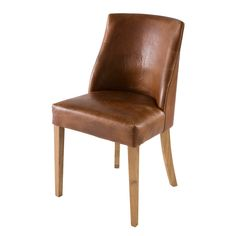 Chaise En Cuir Marron Diane