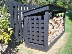 Having a shed in either your back yard or garden is now a popular sight in the majority of today's households. Storing away the kid's bikes and outdoor toys or simply keeping the garden tools safe and dry, a shed is a great storage s Firewood Shed, Firewood Storage, Custom Sheds, Shed Construction, Wood Storage Sheds, Build Your Own Shed, Wood Store, Backyard Sheds, Garden Sheds