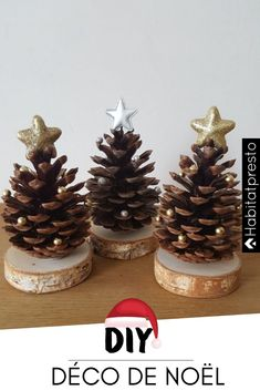 Christmas 6 ideas for Christmas decorations to make yourself - noël Christmas Hearts, Christmas Makes, Diy Christmas Ornaments, Christmas Time, Christmas Lights, Deco Noel Nature, Deco Table Noel, Country Christmas Decorations, Christmas Aesthetic