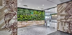 Akin to how the company celebrates the harmony between nature, body, mind, and soul, the space harvests the rhythm of nature where traffic flows naturally and makes a visit uplifting and invigorating Green Walls, Young Living, Singapore, Space, Nature, Home Decor, Floor Space, Naturaleza, Decoration Home