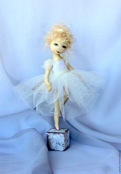 Купить Балетные истории.... - белый, балет, балерина, кукла балерина, маленькая балерина, текстиль, хлопок
