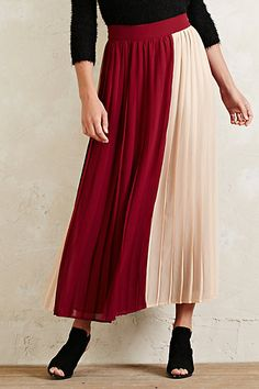 Winter Berry Pleated Skirt #anthropologie