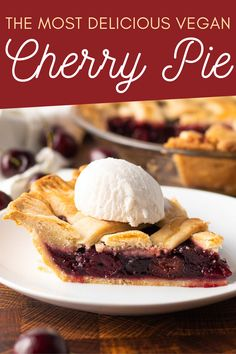 This lattice-topped vegan cherry pie is the perfect holiday dessert with frozen fruit and a homemade crust.