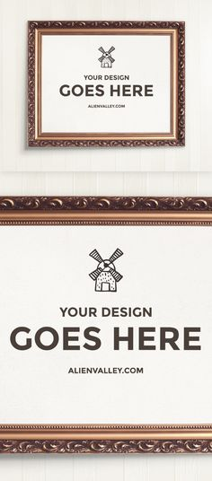 Elegant wooden frame mockup | http://alienvalley.com  | #mockup #freebie #frame