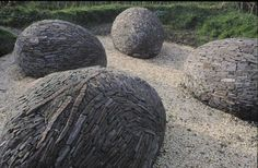 Sculptures at the Lianelli National Wetland Center