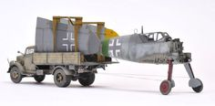 EDUARD 1/48 scale German Messerschmitt Bf109 G-6 + TAMIYA 1/48 scale Opel Blitz truck. By Brett Green. #scale_model #WW2 #Luftwaffe #warbirds http://www.hyperscale.com/2015/2015modelsbg_1.htm