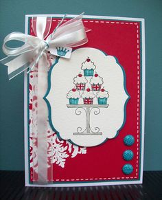 by Amy White, White House Stamping ---- SU Medallion & Crazy for Cupcakes, both retired