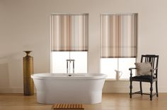 Calming stripes - Manilla Grey Roller Blinds, Blinds, Grey