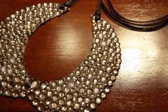 DIY Rhinestone Collar Bib Necklace thing
