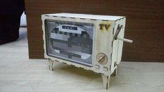 Laser cut wooden tv