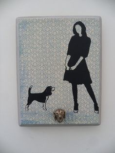 A Beagle and Her Girl Leash Holder The Way by AGirlandHerDogShop, $34.00