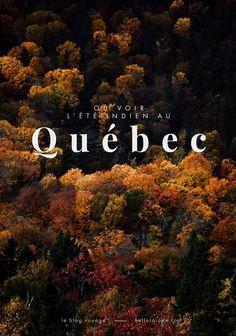 où voir l'été indien au Québec ? Blog voyage I Want To Travel, Work Travel, Travel List, Pvt Canada, All About Canada, Voyage Europe, Quebec City, Blog Voyage, Parcs
