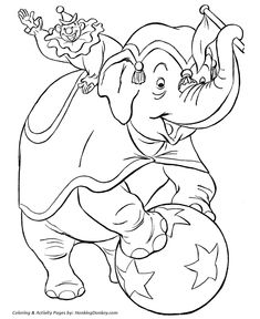 circus elephant coloring page these free printable circus coloring sheets of circus pictures are fun for kids - Free Elephant Coloring Pages