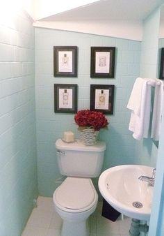Ba os on pinterest half bathrooms half baths and bathroom for Escaleras con medio bano bajo