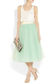 D&G Layered Tulle Midi Skirt. (I think one with better sewing talents than me could make something similar?)