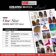 Learn how to maximize your revenue + deliver beautiful hair every day with Keratin Complex. #keratintreatments for every hair type + texture! 📆Monday, Mar 22 📲Call Now: 1-800-446-3987 📩Mail Us: orders@ronwilson.com . . #KCSmooth #EBO #behindthechair #frizzfree #healthyhair #salonprofessional #beautifulhaireveryday #kcunplugged #keratincomplexcolor #keratintreatments #smoothingtreatments #kcaftercare Elements Of Color, Keratin Complex, Professional Hairstyles, Hair Care Tips, Curly Girl, Healthy Hair, Hair Type, Education, Learning