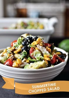 A beautiful mix of veggies and fruit for the perfect salad – Summertime Chopped Salad