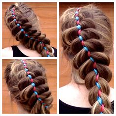 HOW TO DO A 5 STRAND RIBBON BRAID ON YOURSELF