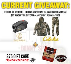 Win Hunting Gear from Benny Spies {US} (9/4/16) via... IFTTT reddit giveaways freebies contests