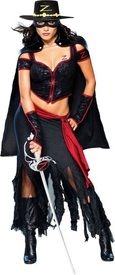 Adult Lady Zorro Costume - TV, Movie Costumes - Womens Costumes - Halloween Costumes - Categories - Party City