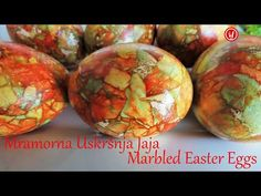 Ouă de Paște marmorate - YouTube Food Garnishes, Easter Traditions, Egg Decorating, Healthy Dishes, Easter Recipes, Easter Crafts, Easter Eggs, How To Make, Decoupage