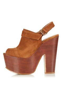 SHERYL Sling Back Platforms It's like all of a sudden I want the 70s real bad.