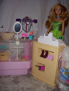 Checkout Counter Plastic Shelving Units, Barbie Store, Counter, Restoration, Clothes, Home Decor, Home, Barbie Stuff, Outfits