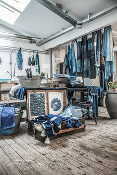 ~ the secret souk ~ Bleu Indigo, Indigo Dye, Mood Indigo, Pantone, Le Grand Bleu, Shabby Chic, Shop Interiors, Retail Design, Shibori