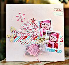 Snow Princess layout made with the Cricut and the new Type Candy cartridge! #cricut