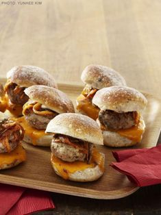 Get Mini Pork Cheeseburgers Recipe from Food Network