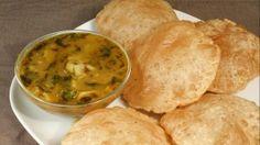 Aloo Puri (Potatoes with Fried Puffed Bread) - Manjula's Kitchen - Indian Vegetarian Recipes