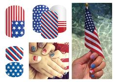 Jamberry 4th of July nails -- I love Patriot!