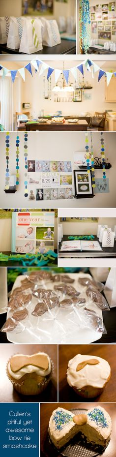 Success!!!  Lots of ideas from pinterest on this littl man party!