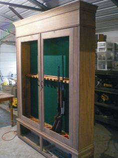 Walnut Gun Cabinet