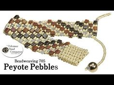 "▶ How to Make "" Peyote Pebbles "" Bracelet - YouTube free tutorial from The Potomac Bead Company www.potomacbeads.com Buy Online: www.thebeadco.com"