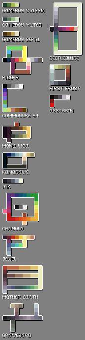 Pixel Art Palette Set by AprilSundae