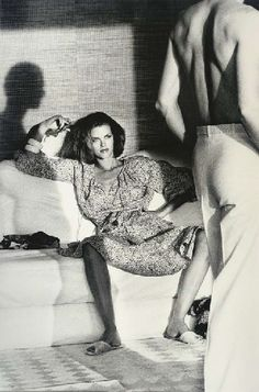 Lisa Taylor featured in American Vogue's infamous 1975 editorial 'Story of Ohh' shot by Helmut Newton.