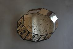 Sam Orlando Miller | Untitled Mirror 4 (10 sides) | 2013, Patinated silver mirror | Unique | UK http://www.galleryfumi.com/Works/Mirrors/