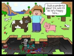 minecraft pictures and jokes :: games / funny pictures & best jokes: comics, images, video, humor, gif animation - i lol'd Minecraft Comics, Minecraft Funny, Minecraft Tips, Minecraft Fan Art, Minecraft Creations, How To Play Minecraft, Minecraft Crafts, Minecraft Drawings, Minecraft Stuff