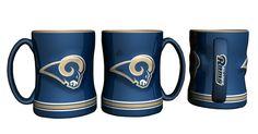 St. Louis Rams 14oz Sculpted Relief Coffee Mug