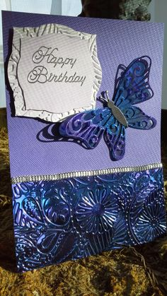 Birthday card-butterfly and shimmer sheetz from Elizabeth Craft Designs, of course!
