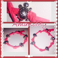 #Bracciale#bracelet#bijoux#jewels#fattoamano#handmade#rossocorallo#red#alcantara#teschio#skull#tartaruga#charms#