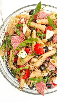 włoska sałatka z makaronem Penne, Pasta Salad, Lunch Box, Food And Drink, Healthy Recipes, Cooking, Ethnic Recipes, Asia, Foods
