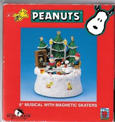 Peanuts Collection Music Box w/ Magnetic Skaters / Kurt Adler