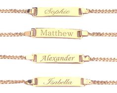 Nameplate Bracelet Skinny Bar Personalized Jewelry Initials Gold Sterling Silver Wedding Gift Bridesmaid B203 Baby
